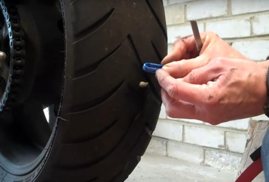 Repair A Motorcycle Flat Tire